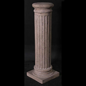 ROMAN COLUMN DISPLAY PLINTH PEDESTAL 3FT LAMP/PLANT STAND STONE EFFECT RESIN