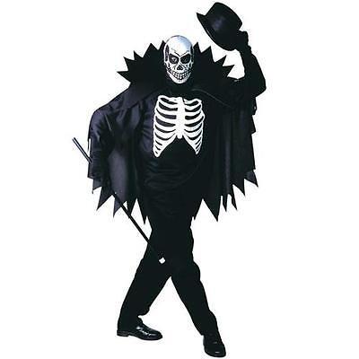 SCARY SKELETON 50/52 M Herren Kostüm Skelett Tod Halloween Karneval 3915 ()