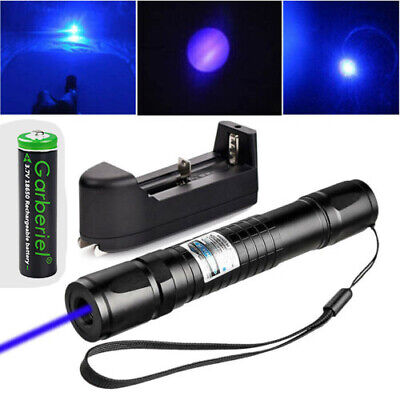 Tactical 900miles Blue Purple 405nm Laser Pointer Pen Visible Beam18650charger