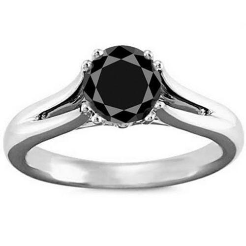 black diamond wedding ring ebay - Wedding Rings With Black Diamonds