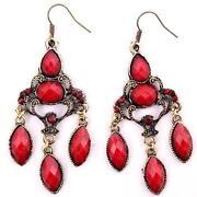 Black crystal chandelier earrings ebay red crystal chandelier earrings aloadofball Gallery