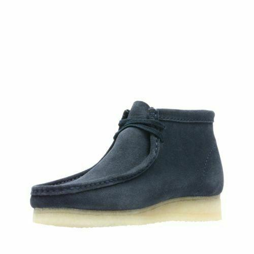Clarks Originals Wallabee Boot Men's Dark Blue Suede 26135225