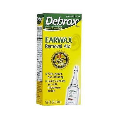 Debrox Drops Earwax Removal Aid Gently softens and removes earwax from ears 15ml ()
