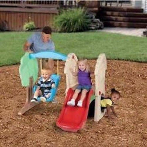 Toddler outdoor toys ebay for Little tikes outdoor playset