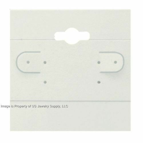 """1000 White Hanging Earring Display Cards 2""""H x 2""""W with Lip"""