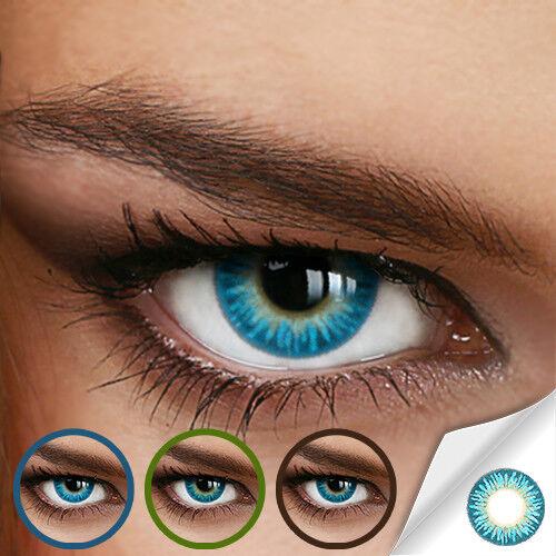 Farbige Kontaktlinsen Rainbow Aqua (Stärke von +5.00 DPT bis -12.00 DPT)