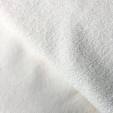 Off White Cotton French Terry Knit Fabric by the Yard 320 GSM HEAVY WEIGHT