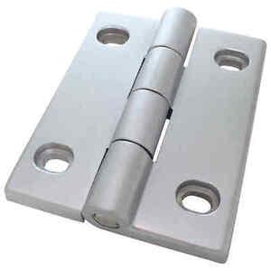 Scharnier Schwerlastscharnier Drehband AL 90 Aluminium Druckguss 50x78 mm silber