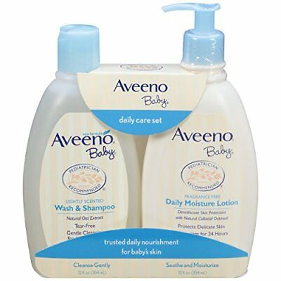 NEW Aveeno Baby Daily Care Set For Delicate Skin And Hair 2 Items FREE SHIPPING