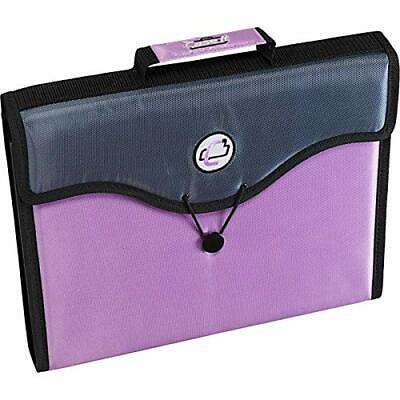 Case It 13-pocket Expanding File Folder Pinkgray Eff-30 Handle Shoulder Strap