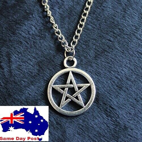 Jewellery - New Silver Pentagram star wicca / pagan Pendant Charm necklace Gift