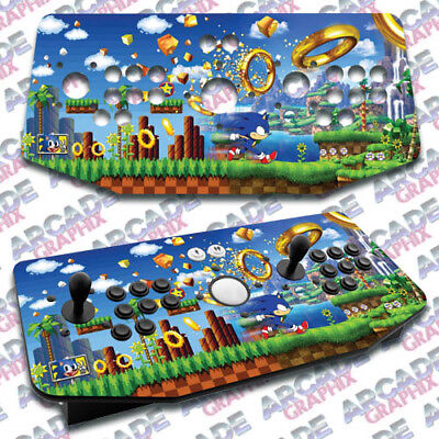 Sonic X Arcade Artwork Tankstick Overlay Graphic Sticker for sale  Shipping to Canada