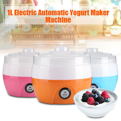 1Pc 220V 1L Automatic Yogurt Maker Machine Diy Yoghourt Plastic Container Bt