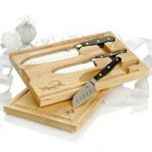 wolfgang puck kitchen knives wolfgang puck 3 piece santoku knife set with dual cutting board 3873