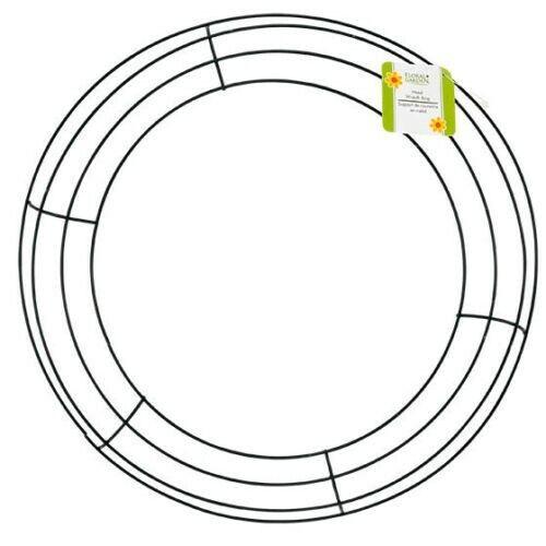 14 inch Green Metal Wire Wreath Frame  Door Wreath Ring Supplies Decorative Art
