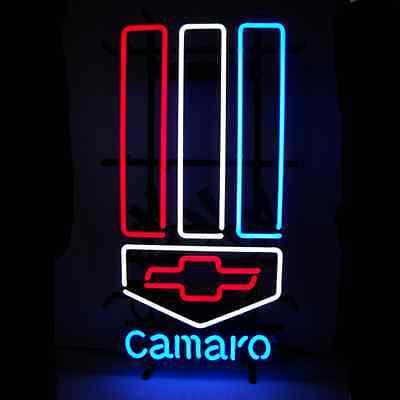 Camaro Neon Sign Red, White & Blue 5CAMARO w/ FREE Shipping