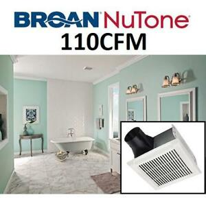 NEW BROAN BATHROOM VENTILATION FAN AEN110C 190480971 NUTONE EXHAUST CEILING 110CFM WHITE