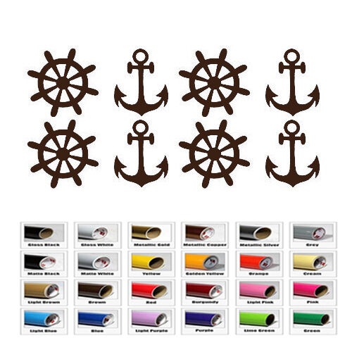 Anchor Nautical Clipart Sticker for Car Window Wall Laptop p