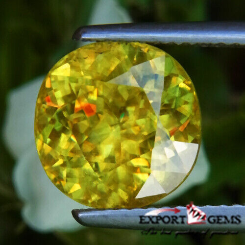 UNHEATED 5.10 CT NATURAL YELLOW ROUND SPHENE
