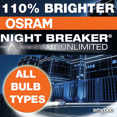 NEW! OSRAM NIGHT BREAKER PLUS UNLIMITED +110% H1 H3 H4 H7 H11 HB3 HB4 BULBS