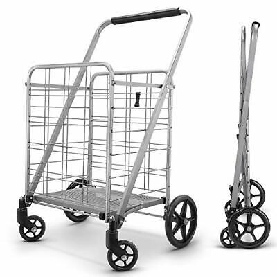 Newly Released Grocery Utility Flat Folding Shopping Cartwith 360 Rolling