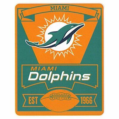 NFL Marquee Logo Lightweight Fleece Blanket (Miami -