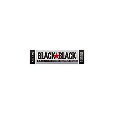 LOTTE Black Black Chewing Gum Pack of 15 japan new.