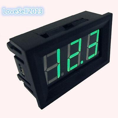 10 Pcs Green Led Panel Meter Mini Digital Voltmeter Dc 0v To 99.9v New L8