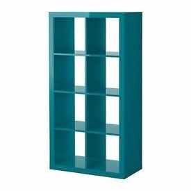 IKEA EXPEDIT Shelving unit - Turquoise high gloss
