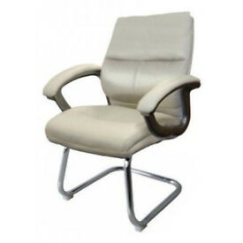 Eliza Tinsley Furniture Greenwhich Medium Back Cantilever Visitor Chair - Cream