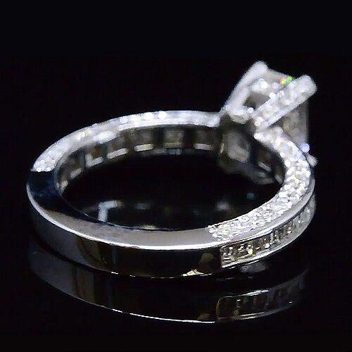 2.49 Ct Emerald Cut Diamond Engagement Ring Baguette Accents E,VS1  GIA 14K WG 1