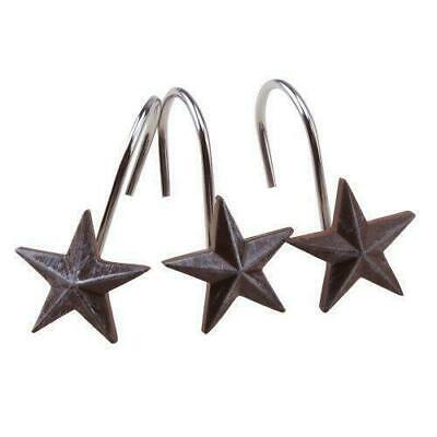 AGPtek Stars Decorative Shower Curtain Hooks, 12Pack, Resin Bathroom Rings Hooks