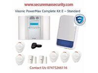 VISONIC POWERMAX COMPLETE KIT E - STANDARD ALARM SYSTEM HOME BUSINESS UK SELLER