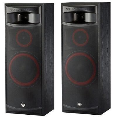 Cerwin-Vega XLS-12 12in 3 way Floor Tower Speakers Home Theater Set - Pair