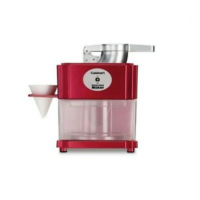 Snow Cone Maker Machine 20oz Red Tabletop Ice Crusher Shaver Electric Cuisinart