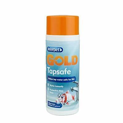 Interpet Gold Tapsafe for Goldfish Bowls, Fish Tanks, Aquariums, makes tapwater