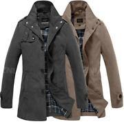 Mens Brown Trench Coat