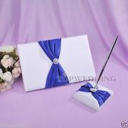 Royal Blue Guest Book
