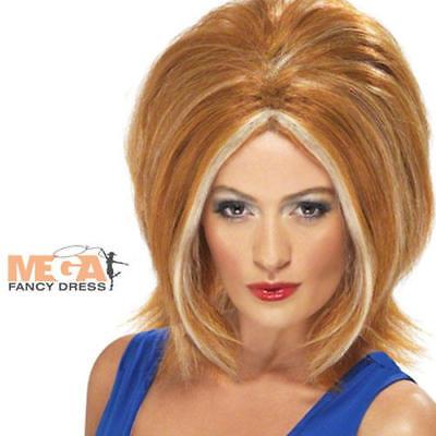 Ginger Power Spice Girl 1990s Wig Fancy Dress Costume Ladies 90s Star Celebrity