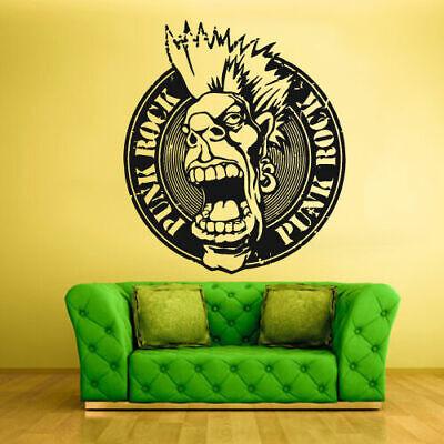 ROCK N ROLL music decal, Punk Rock Wall Vinyl Sticker Bedroom Design Decor Z419](Punk Rock Decor)