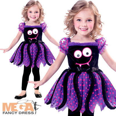 Cute Spide Girls Halloween Fancy Dress Insect Bug Toddler Childrens Kids Costume - Spide Girl