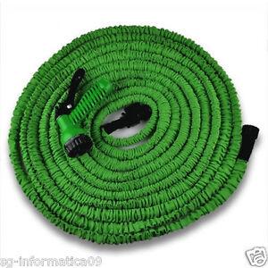 tubo 30 metri pistola estensibile giardinaggio magic hose irrigazione piante ebay. Black Bedroom Furniture Sets. Home Design Ideas
