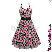 50s Rockabilly Polka Dot Dress