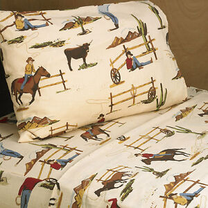 Cowboy Twin Sheets | eBay