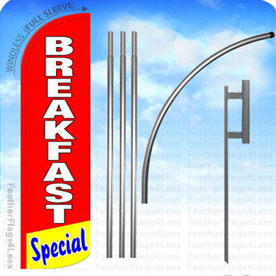 Breakfast Special - Windless Swooper Flag Kit Feather Banner Sign 15 Rq