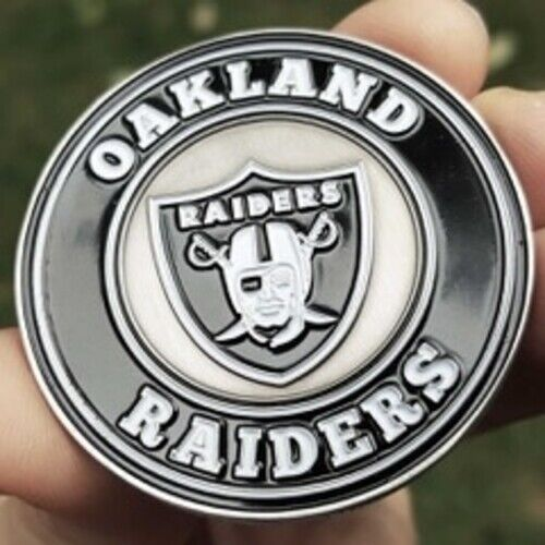 PREMIUM NFL Oakland Raiders Poker Card Guard Chip Protector Golf Marker Coin