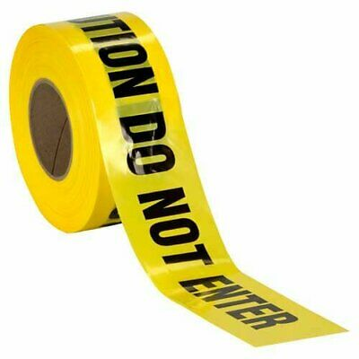 Caution Do Not Enter Barricade Tape High Contrast for great Readability Yellow