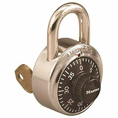 "Master Lock 1525 Combination Stainless Steel Padlock W/key Cylinder, 1 7/8"""