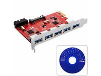 USB3.0 3.0 (5x externally) PCI Express expansion card Controller PCIe