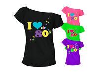 Womens Ladies I Love The 80's T-Shirt Fancy Retro Casual Wear